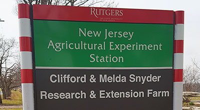 Snyder Farm sign.