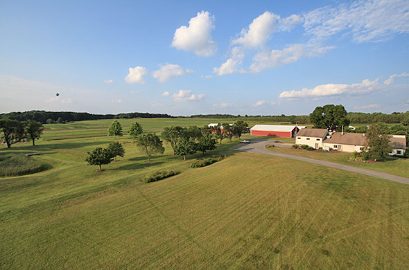 Aerial pgoto of Snyder Farm.